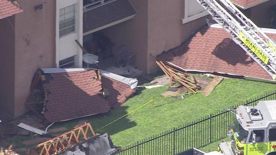 Miami: colapsó parte del techo de un edificio