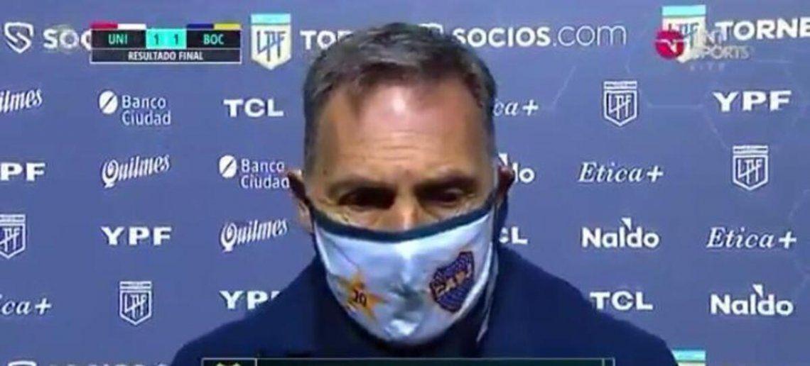 Miguel Ángel Russo analizó la igualdad de Boca.