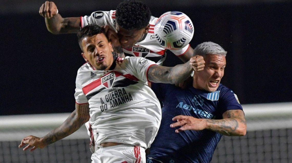 Racing y San Pablo definen quien pasa cuartos de la Copa Libertadores