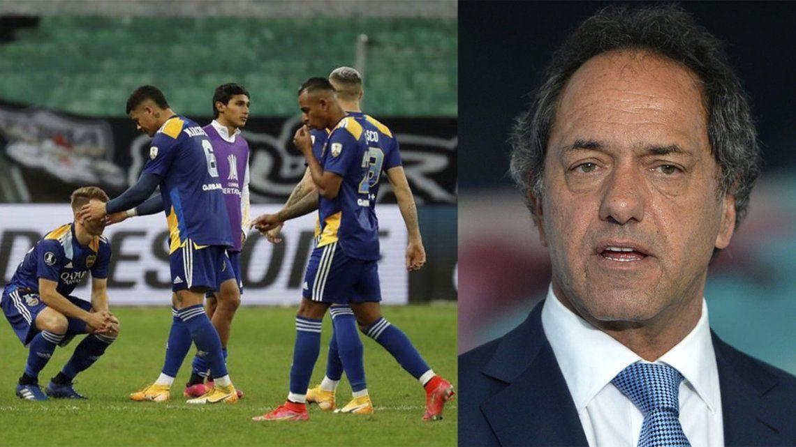 Scioli confirma que Boca regresa en horas de la tarde a Buenos Aires.