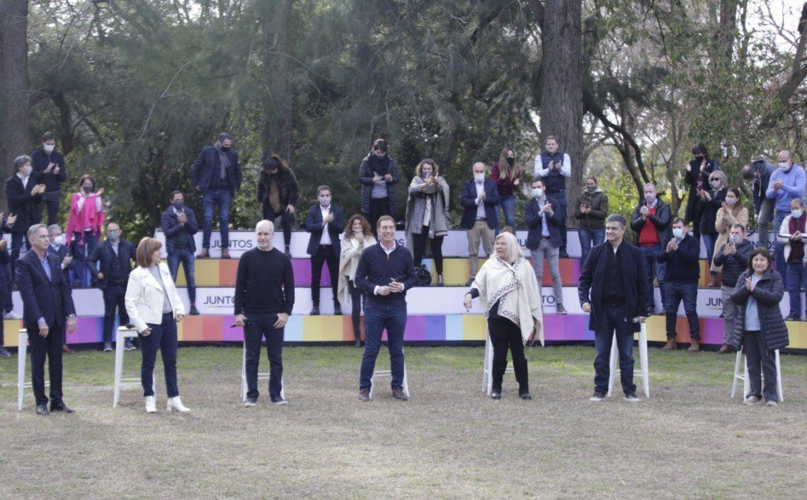 El acto contó con las principales figuras del espacio PRO nacional.