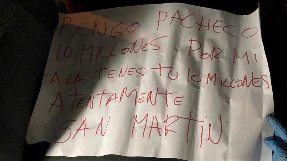 El mensaje mafioso e intimidante que se encontró junto al cuerpo del policía asesinado