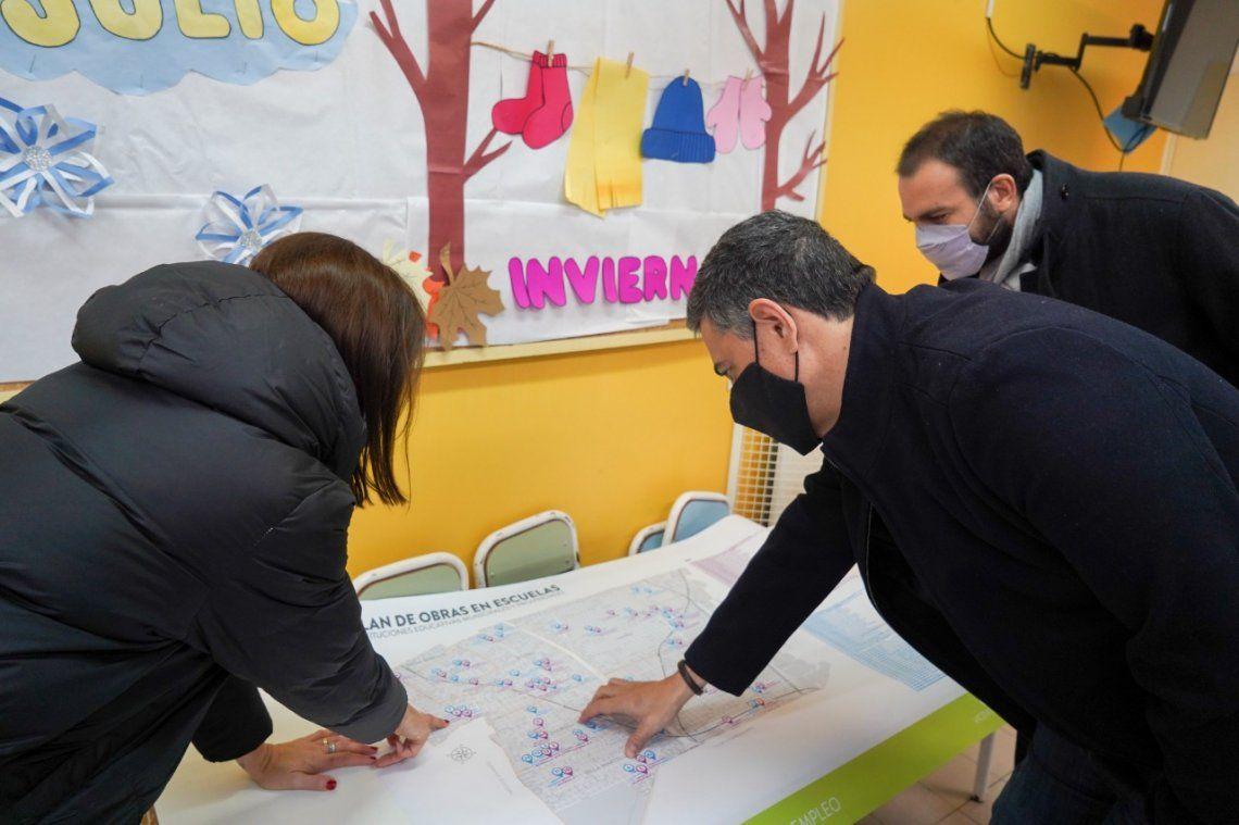 Vicente López continúa el plan de obras en instituciones educativas