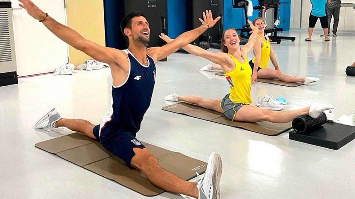 Novak Djokovic y una foto que fue viral en redes sociales.