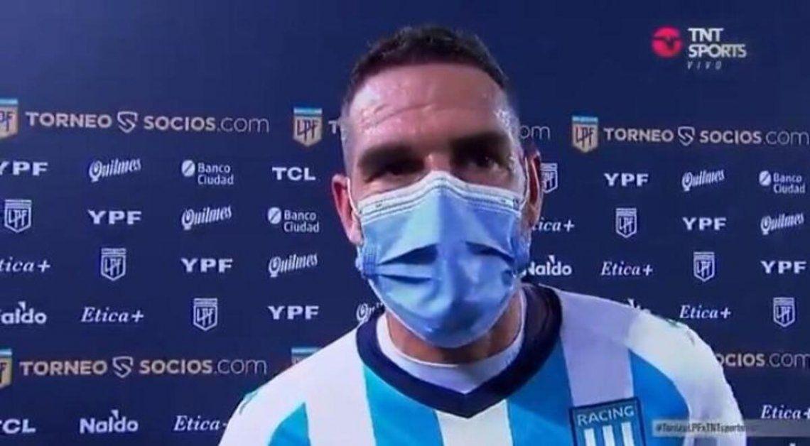 Lisandro López volvió a vestir la camiseta albiceleste.