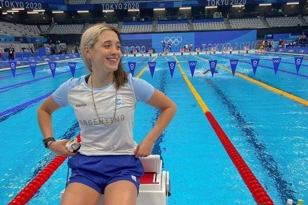 La nadadora argentina Delfina Pignatiello no tuvo mejor su debut olímpico.