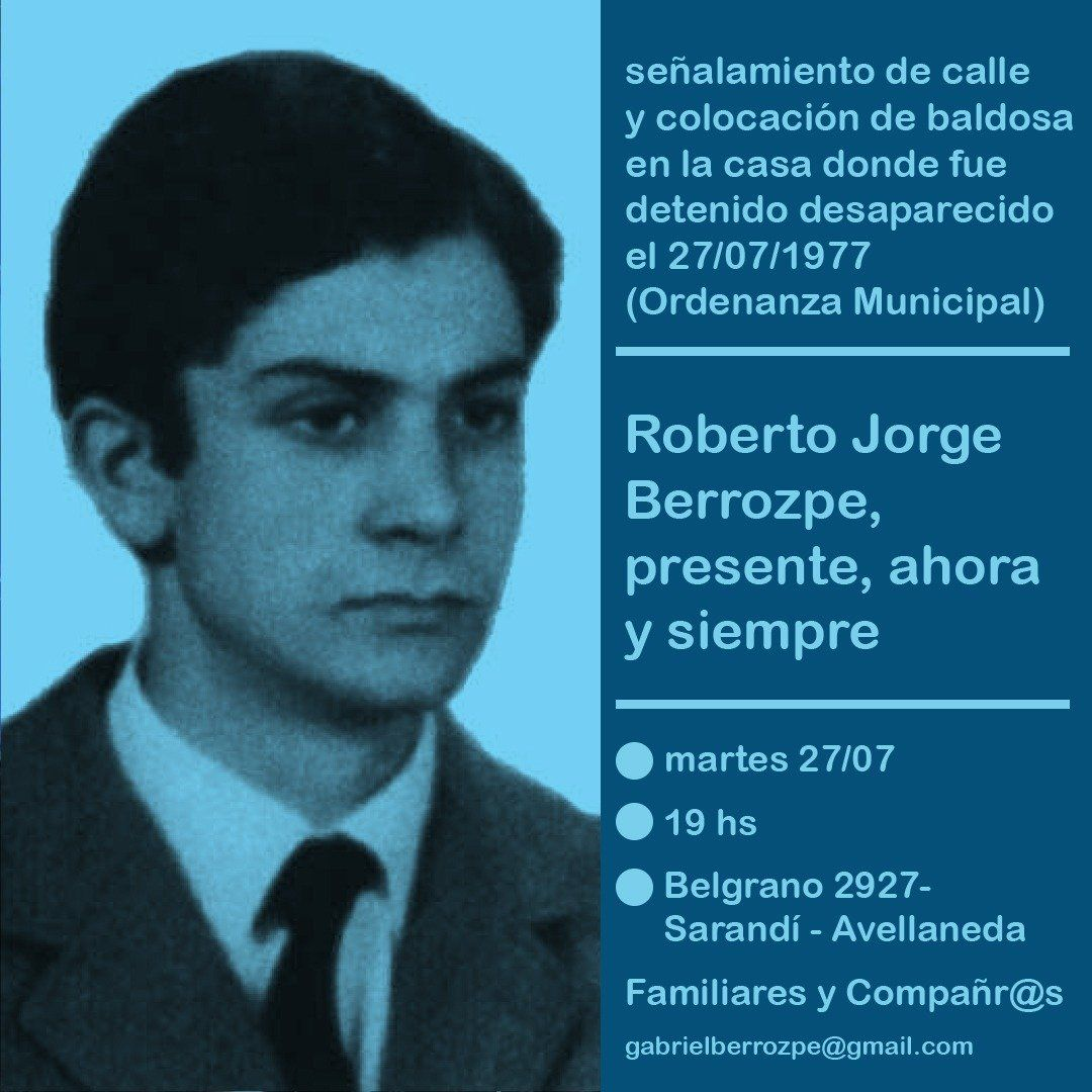 Homenaje al dirigente gremial Roberto Jorge Berrozpe