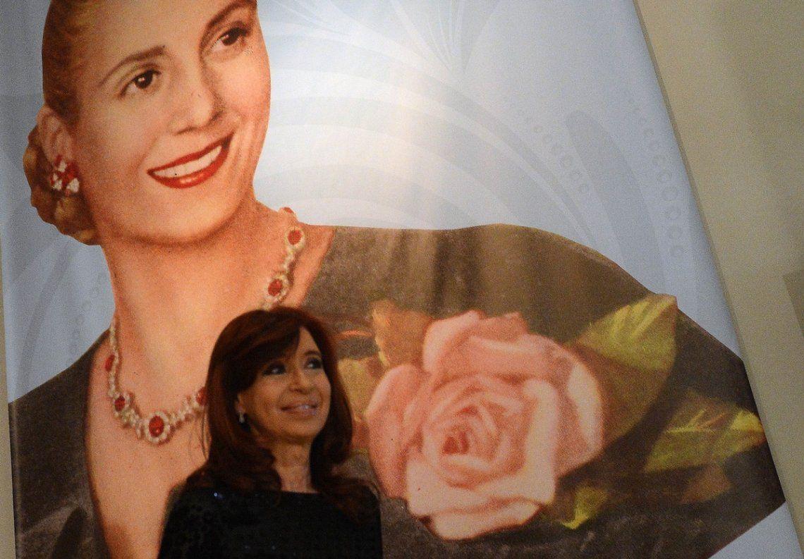 La vicepresidenta Cristina Fernández de Kirchner recordó a Evita