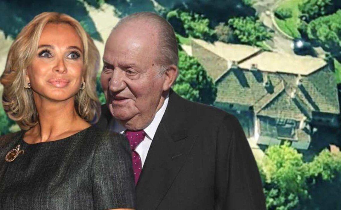 Corina Larsen y el rey emérito Juan Carlos.