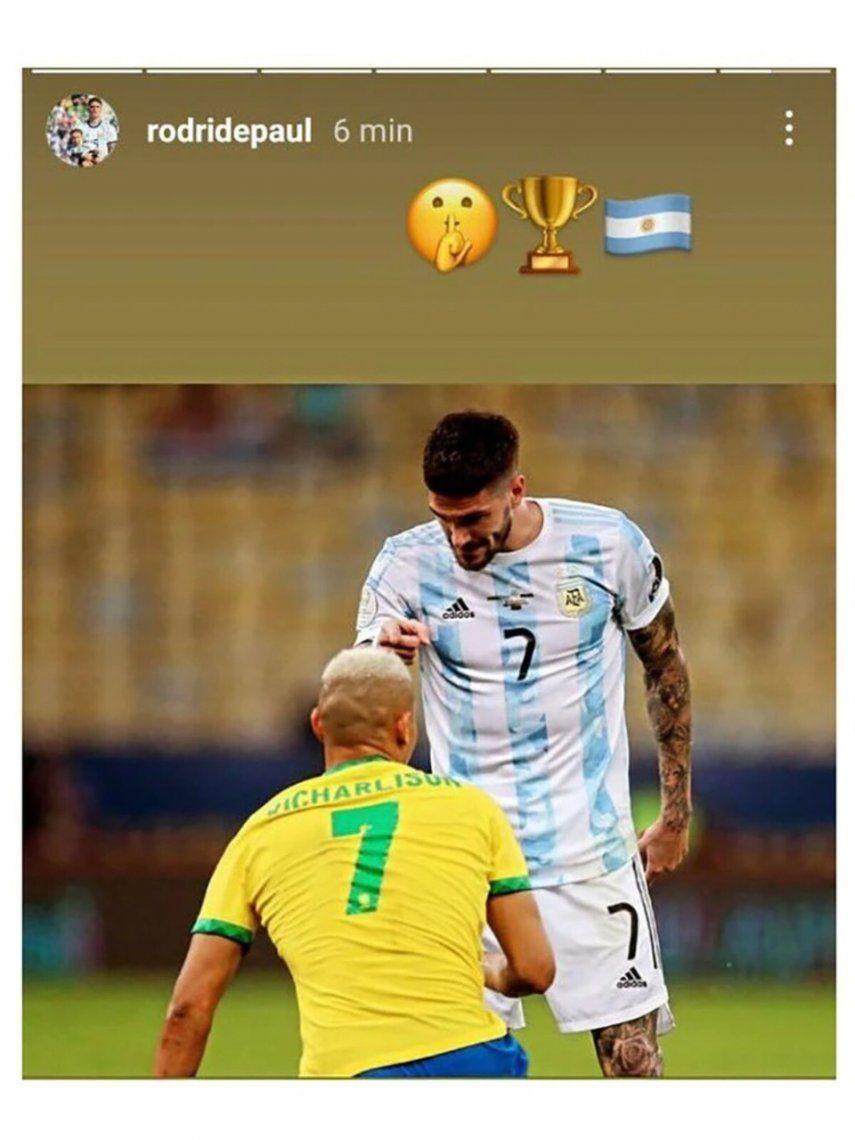 Rodrigo de Paul respondió la burla de los brasileños