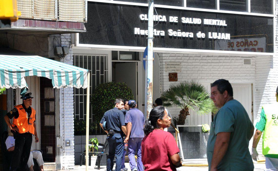 El frente de una clínica de salud mental: se duplicaron las internaciones.