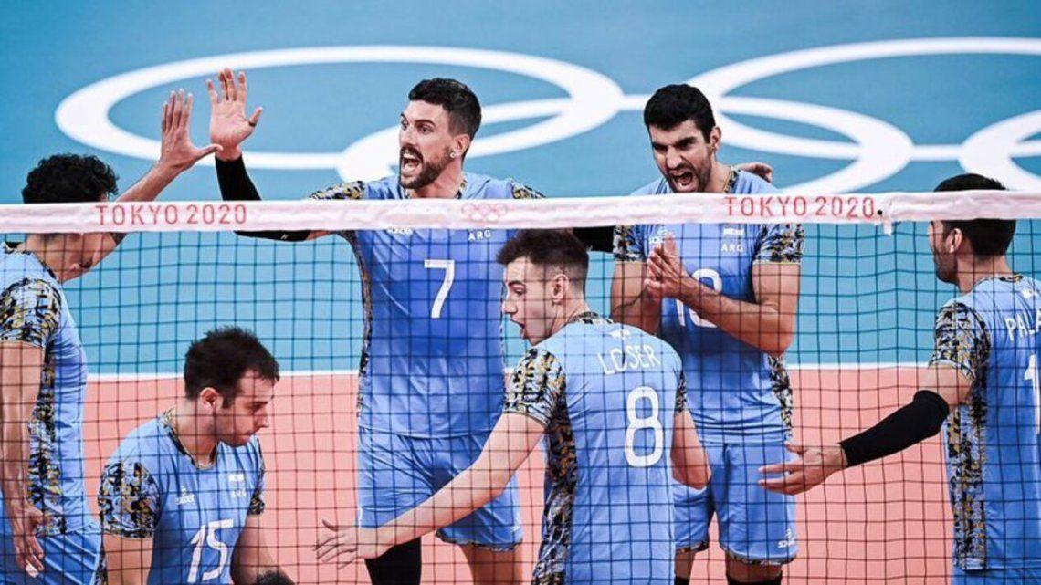 Argentina derrotó al seleccionado de Voley de Estados Unidos en los Juegos Olímpicos Tokio 2020