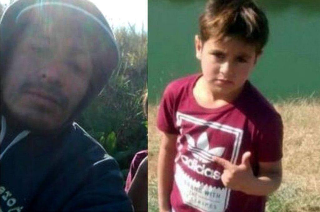 David Alejando Cid (34) y Owen Tahiel Muzzupappa (7) fueron hallados por buzos tácticos en aguas de la tosquera de Merlo.