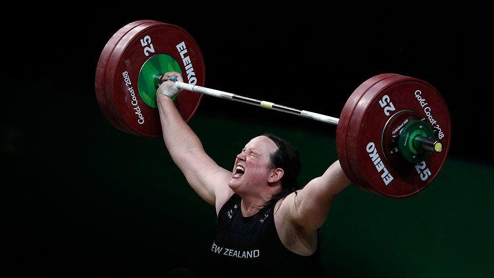 La levantadora de pesas de Nueva Zelanda