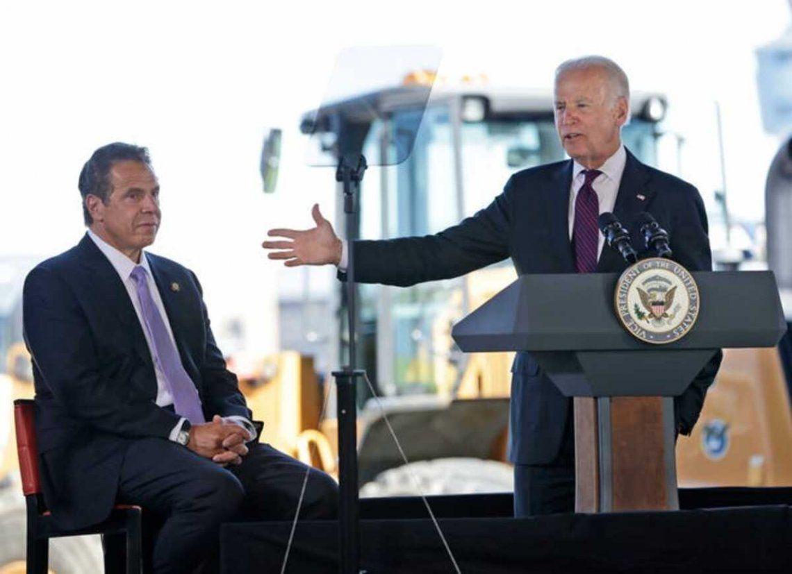 Joe Biden y Andrew Cuomo