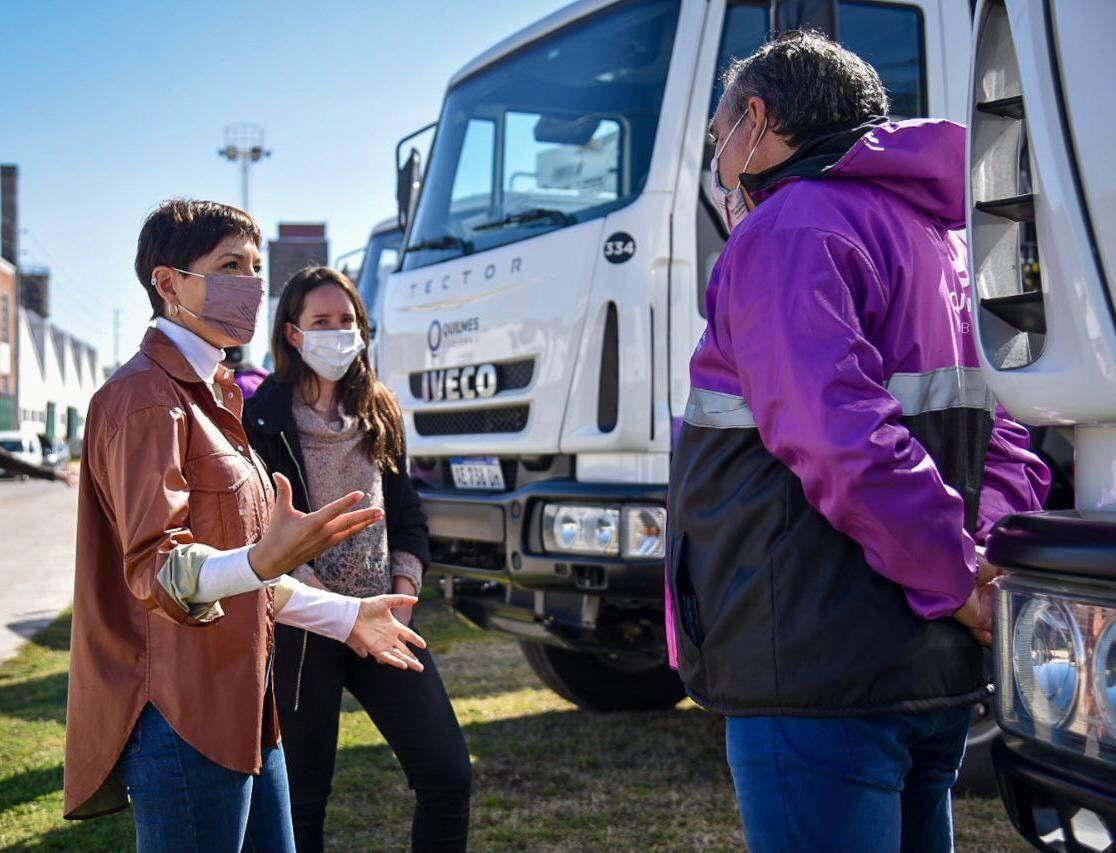Nuevos camiones para la recolección de residuos en Quilmes