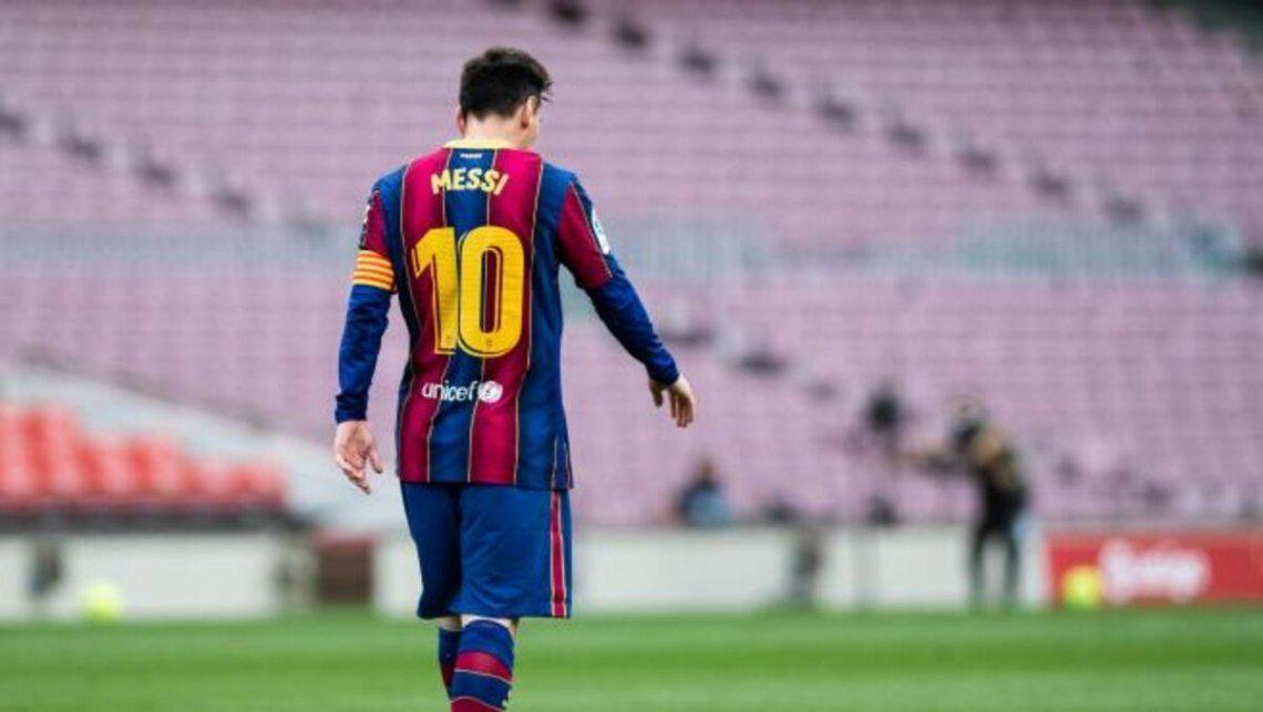 Lionel Messi se despide del Barcelona.