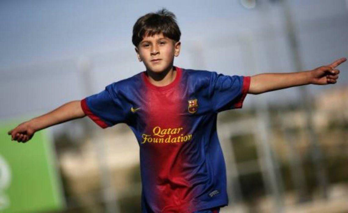 Lionel Messi en sus comienzos dentro del club.