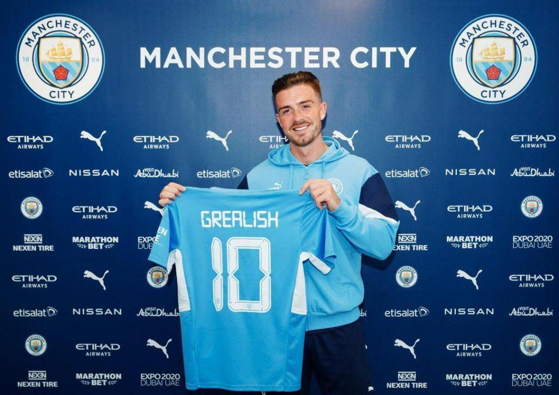 Jack Grealish nuevo jugador del Manchester City.