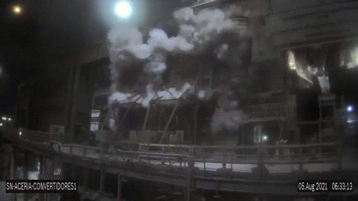 San Nicolás: sorprendente explosión en la planta de Siderar.
