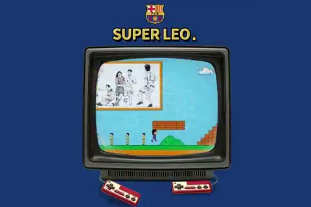 Barcelona repasa la carrera de Messi a lo Mario Bros