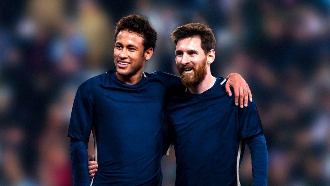 Leo Messi junto a su amigo Neymar y probable compañero del PSG