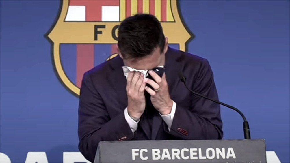 Messi no pudo contener su llanto