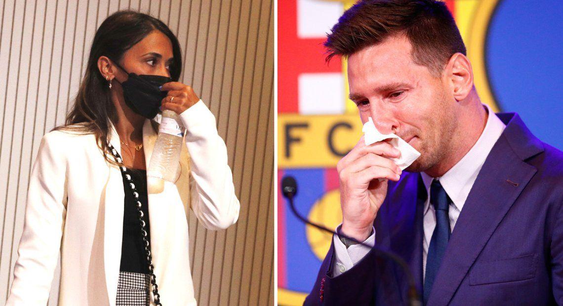 Messi se mostró muy movilizado durante su conferencia de prensa en la despedida del Barcelona.