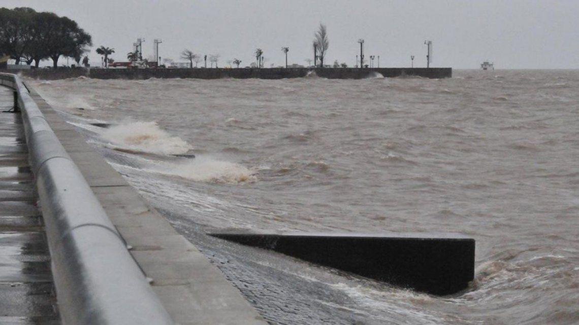Río de la Plata: alerta por crecida en CABA y la zona costera del conurbano