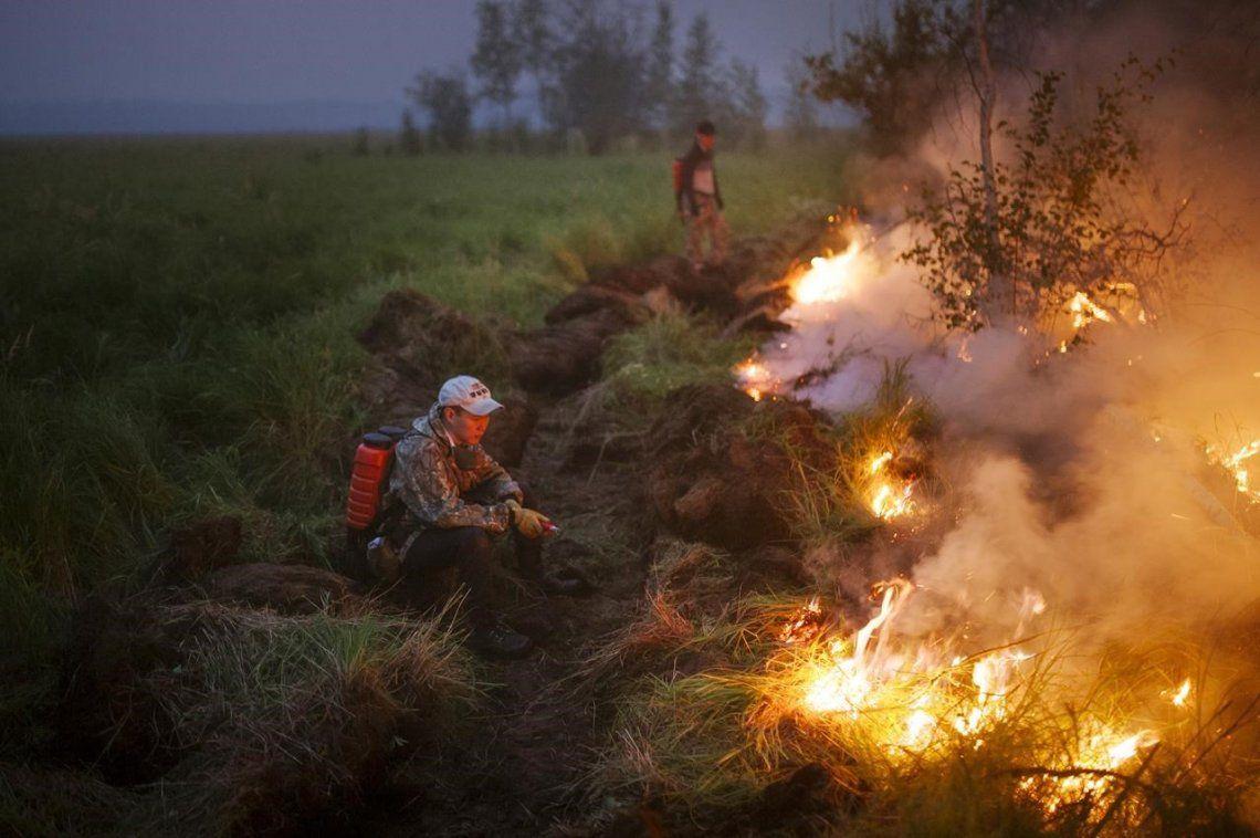 Según la NASA, el humo de los incendios en Siberia alcanzó el Polo Norte