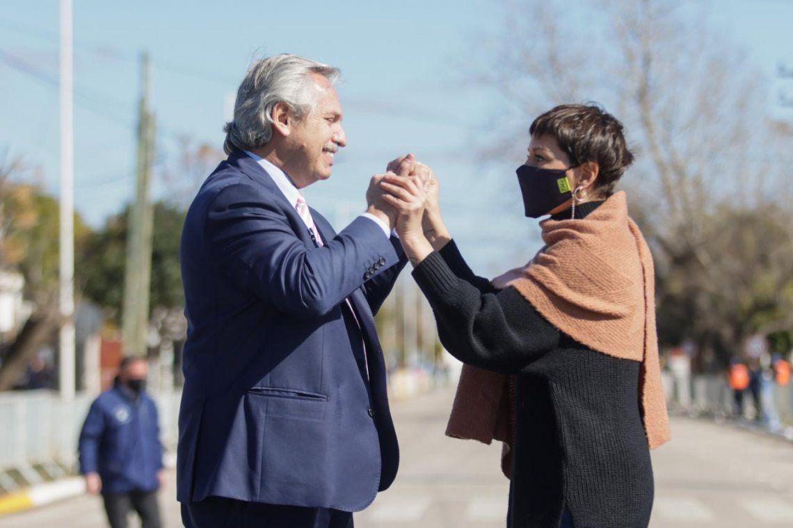 Mayra Mendoza y Alberto Fernández inauguraron obra en Quilmes Oeste
