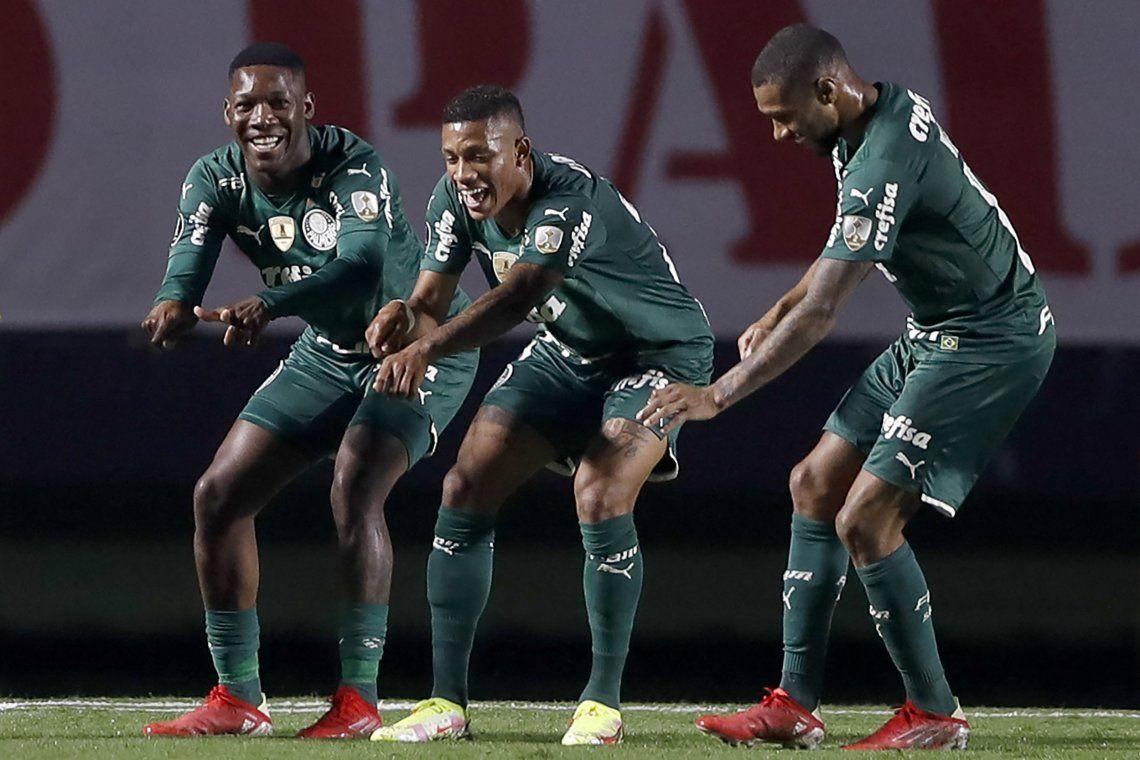 Palmeiras festeja el empate frente a San Pablo