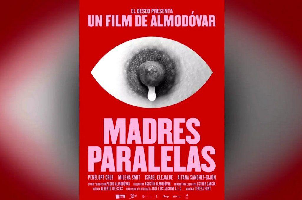 El afiche de la polémica. Madres paralelas es el nuevo film del español Pedro Almodóvar.
