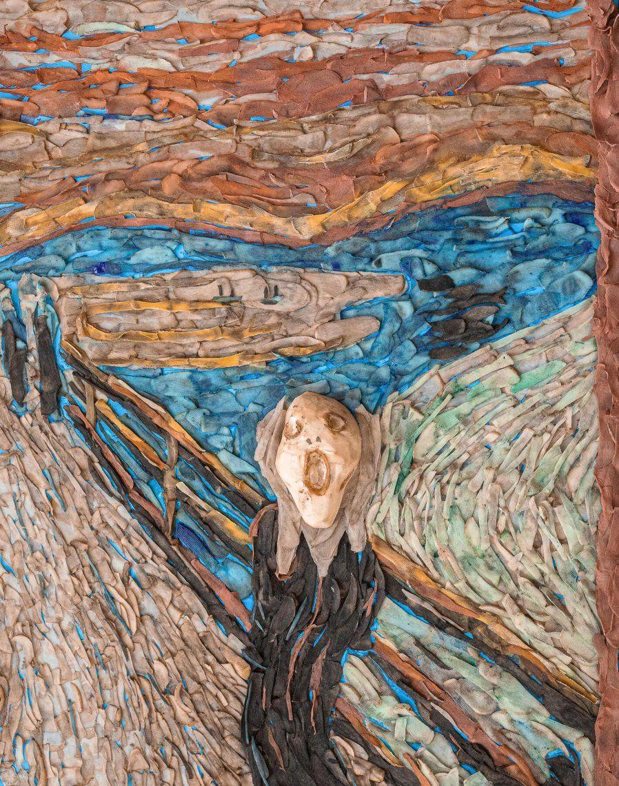 The Screaming Potato: un esfuerzo multimedia que usa cáscara sumergida en pintura y una papa tallada