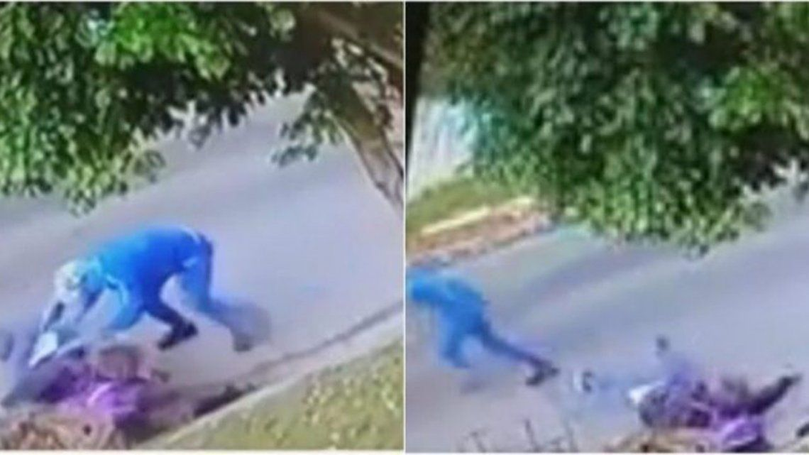 Una maestra iba a la escuela en bicicleta y dos ladrones le pegaron y robaron.