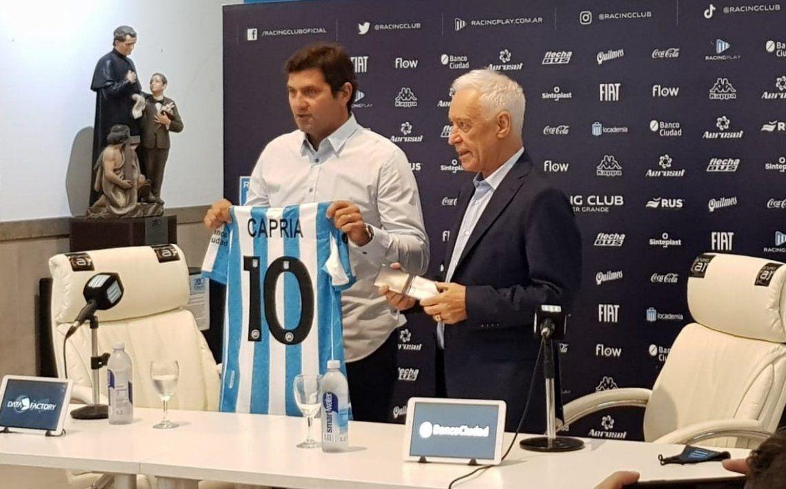 Rubén Capria junto a Víctor Blanco