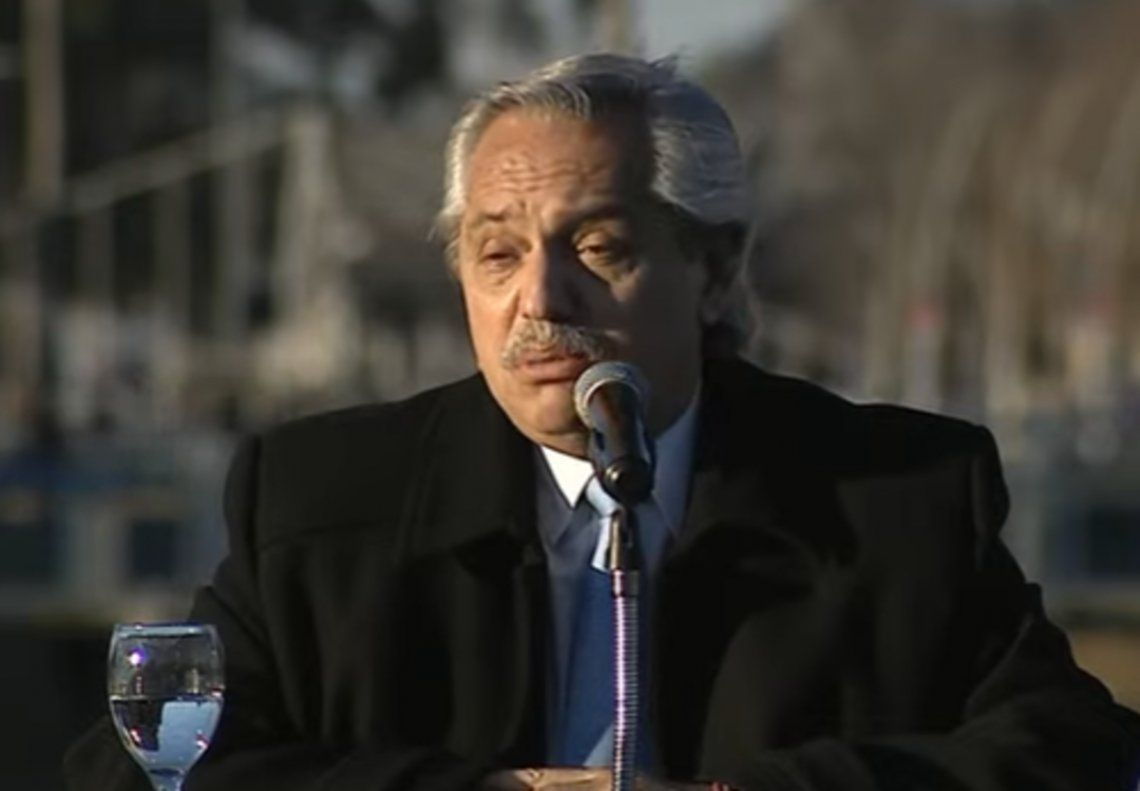 El presidente Alberto Fernández habló en Olavarría.