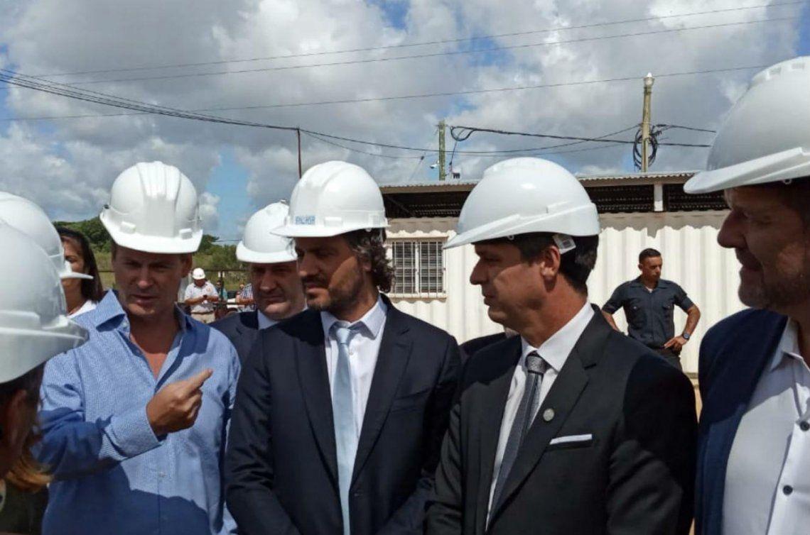 Santiago Cafiero recorrió obras de agua y saneamiento en Concordia