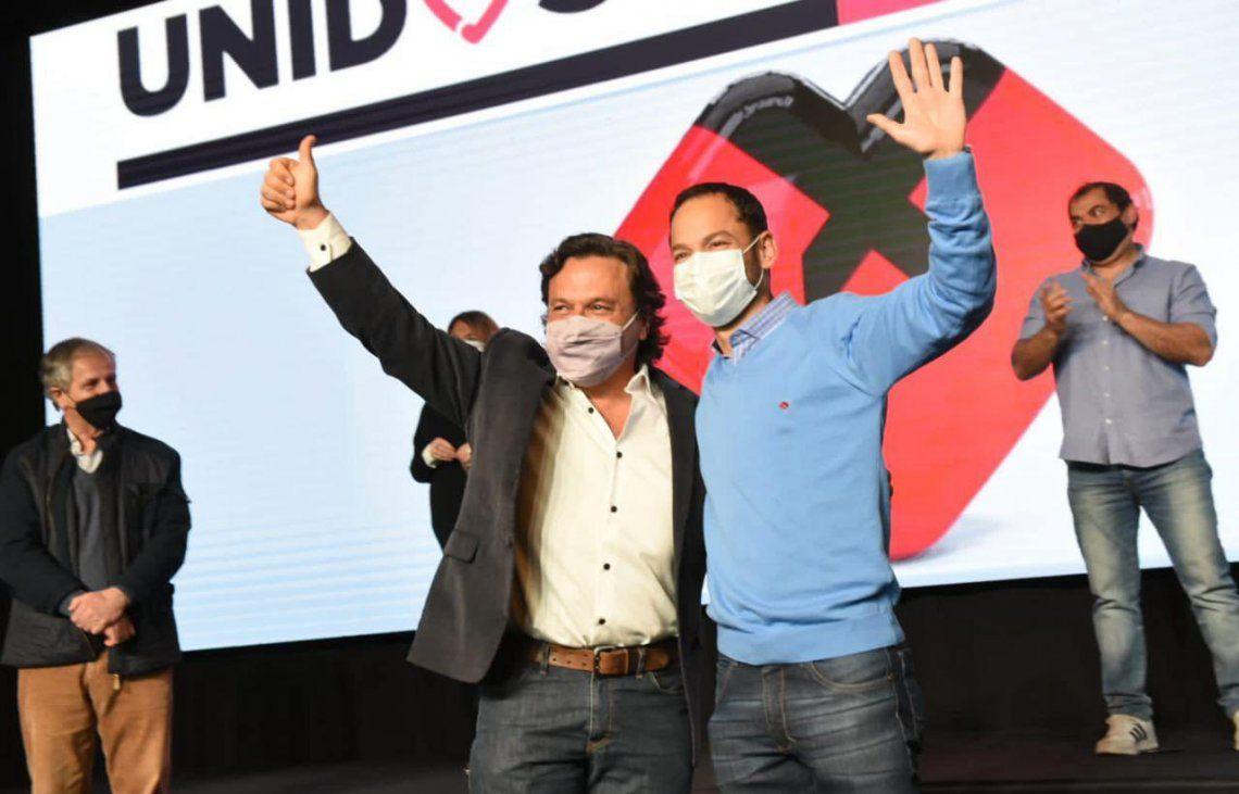 Sáenz y Durand compartieron la alegría del triunfo y se comprometieron a trabajar para mejorar la vida de los salteños.