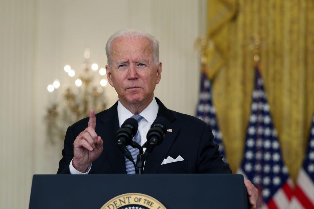 Joe Biden habló desde la Casa Blanca.
