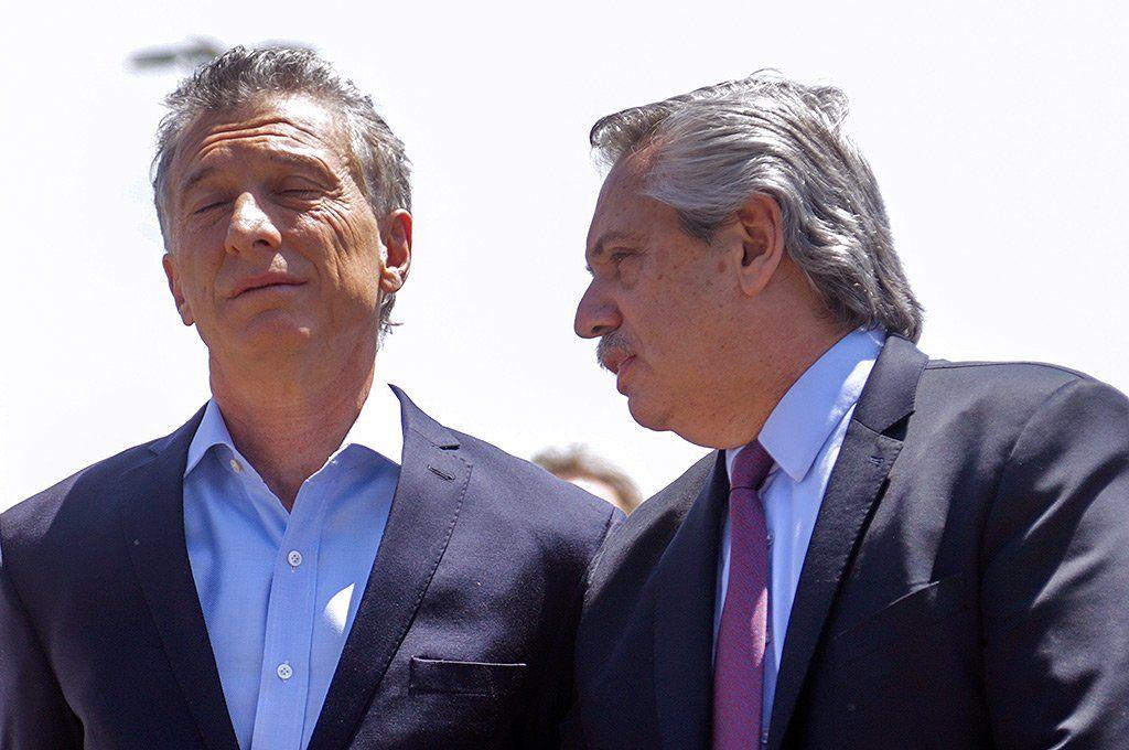 El expresidente Mauricio Macri y el actual mandatario