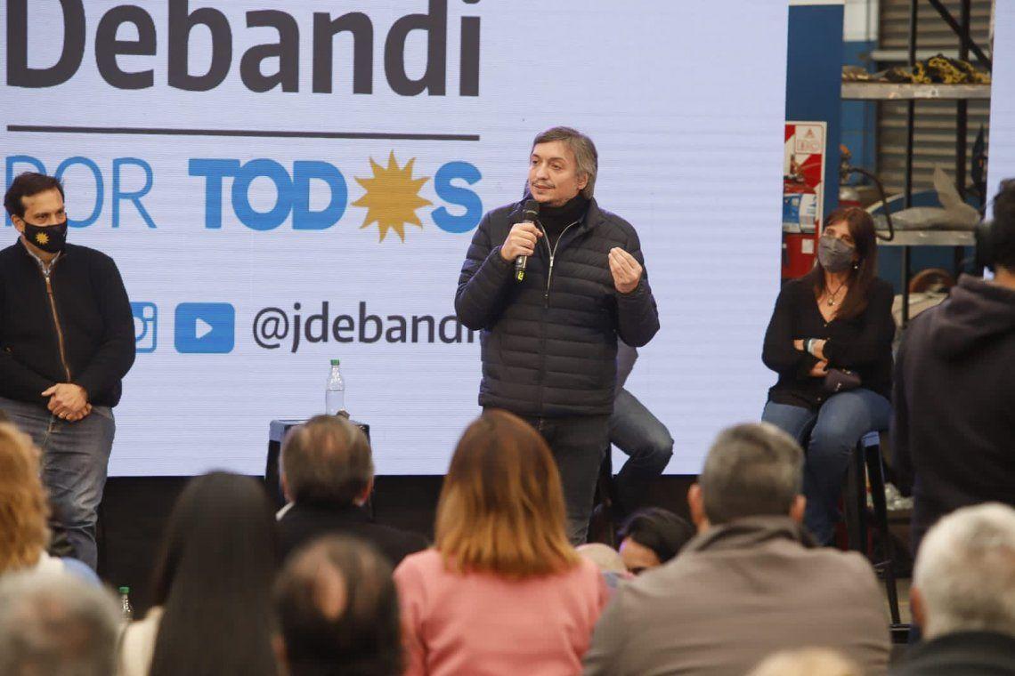Máximo Kirchner en Tres de Febrero
