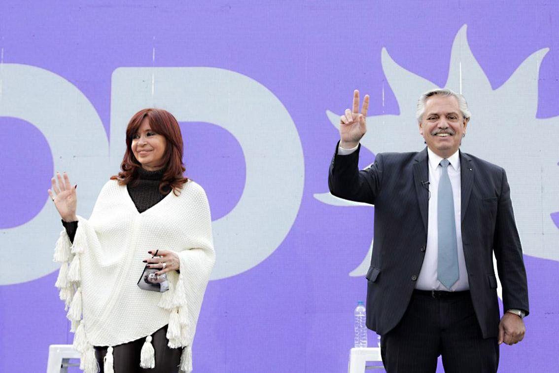 Crsitina Kirchner y el presidente