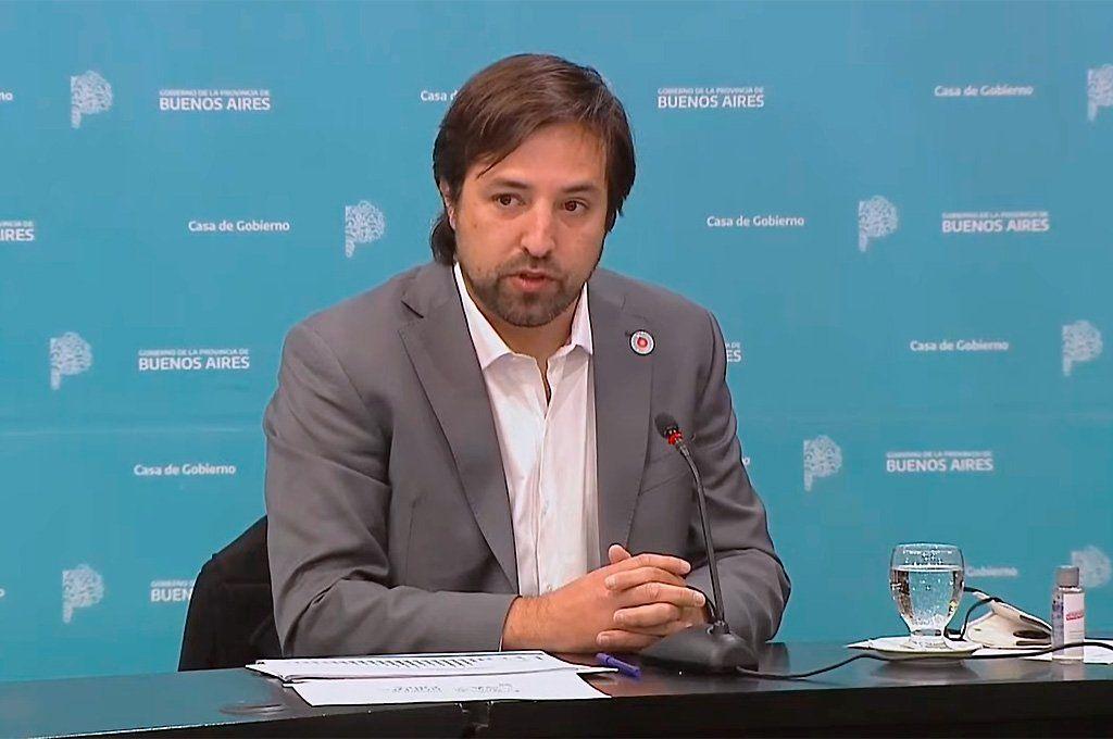 Nicolás Kreplak confirmó el primer caso de infectado con variante Delta por transmisión comunitaria en Buenos Aires. Captura de TV.