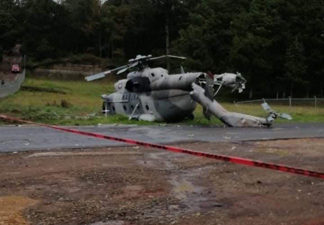 Un helicóptero cayó en México