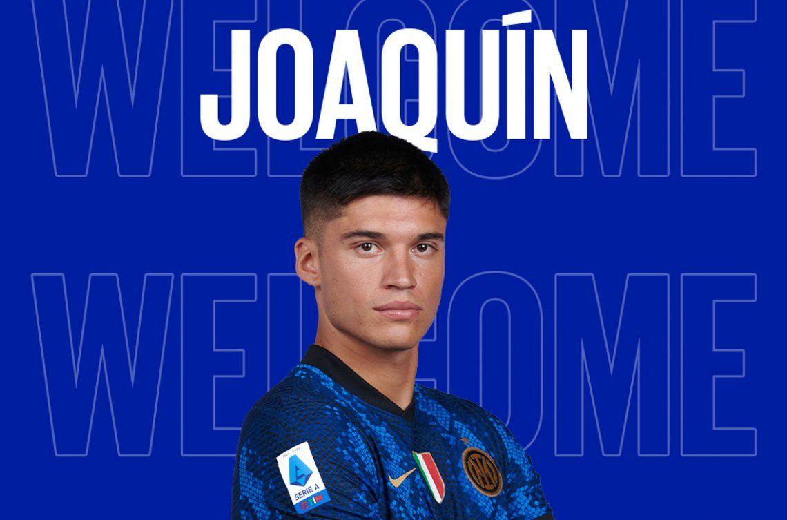 El tucumano Joaquín Correa, nuevo jugador del Inter de Milán