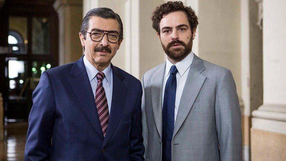 Ricardo Darín y Peter Lanzani en los roles de los fiscales Julio Strassera y Luis Moreno Ocampo.