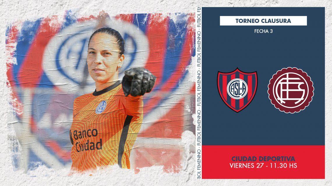 San Lorenzo y Lanús abren la tercera fecha del toreneo femenino de fútbol