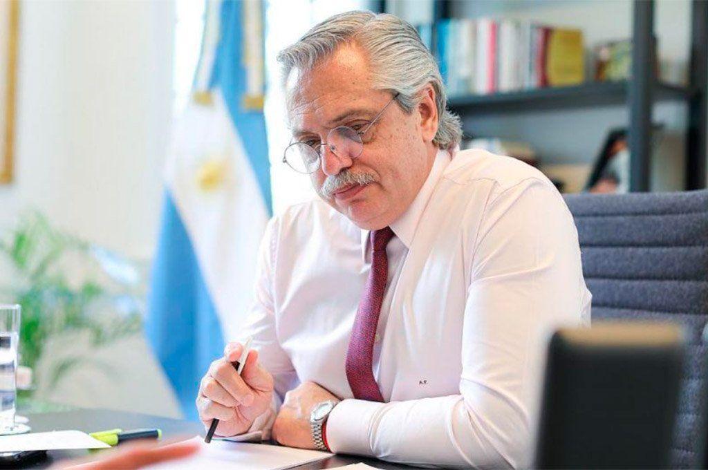 El presidente Alberto Fernández dijo que para él lo de Olivos es un tema superado. Archivo.