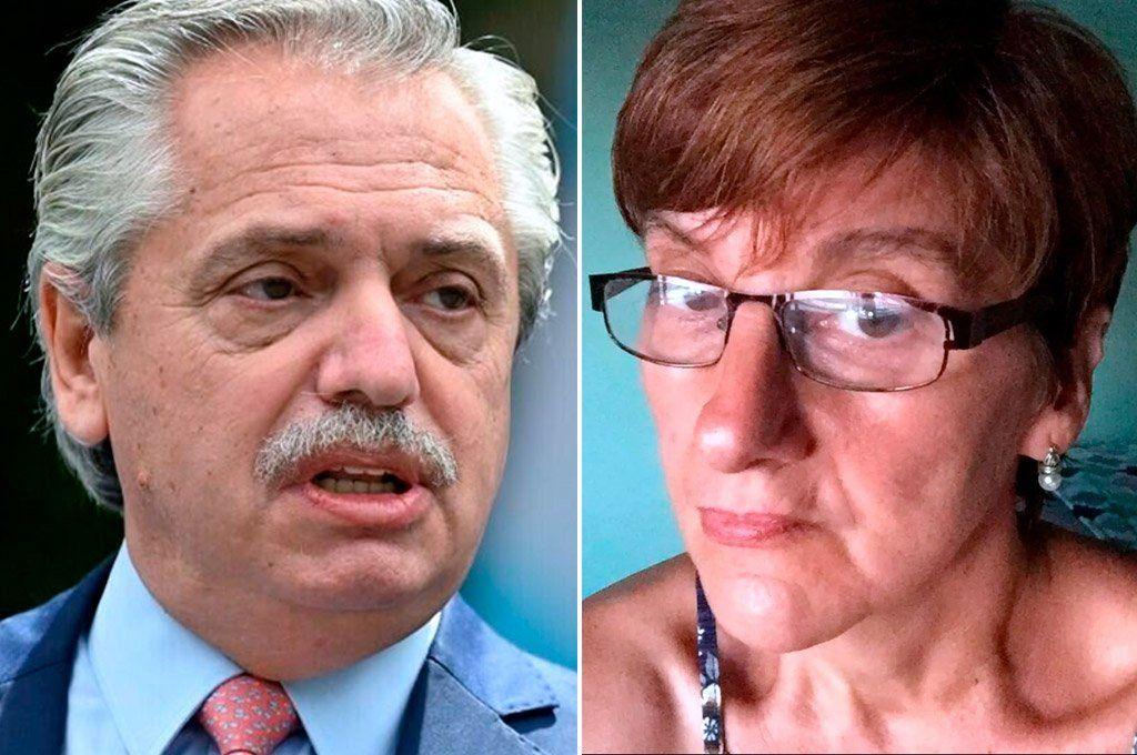 El presidente Alberto Fernández salió este viernes en defensa de la profesora suspendida Laura Radetich.